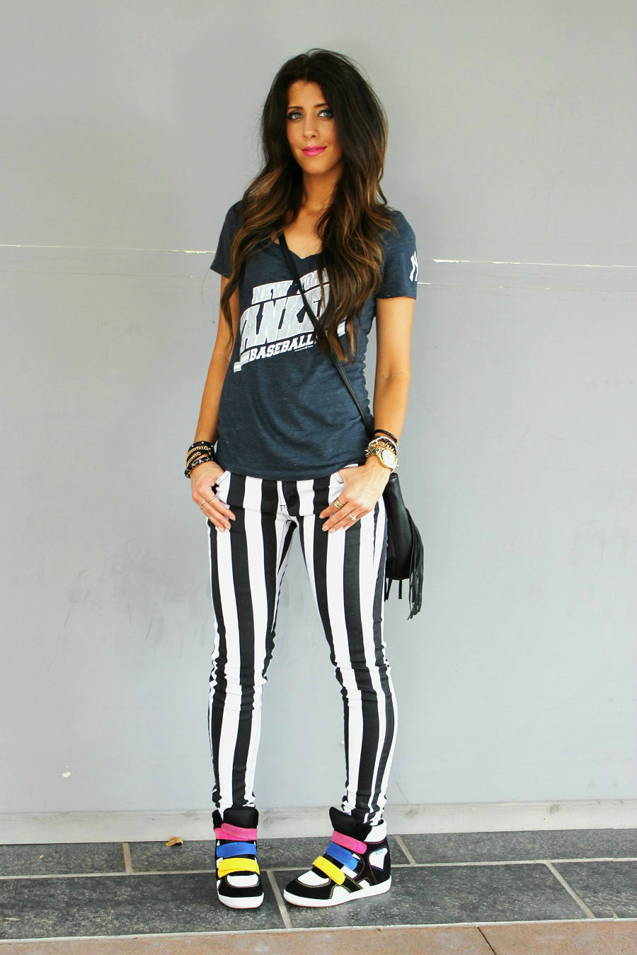 Dressy Amp Casual In Black And White Stripes The Girl In