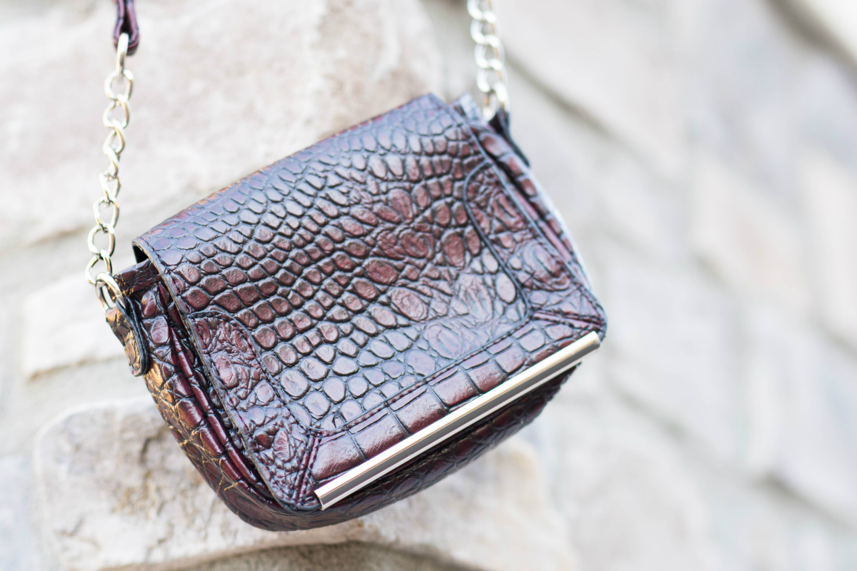 Snakeskin Crossover Bag