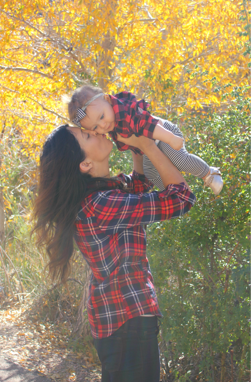 Mother & Daugther in Flannel