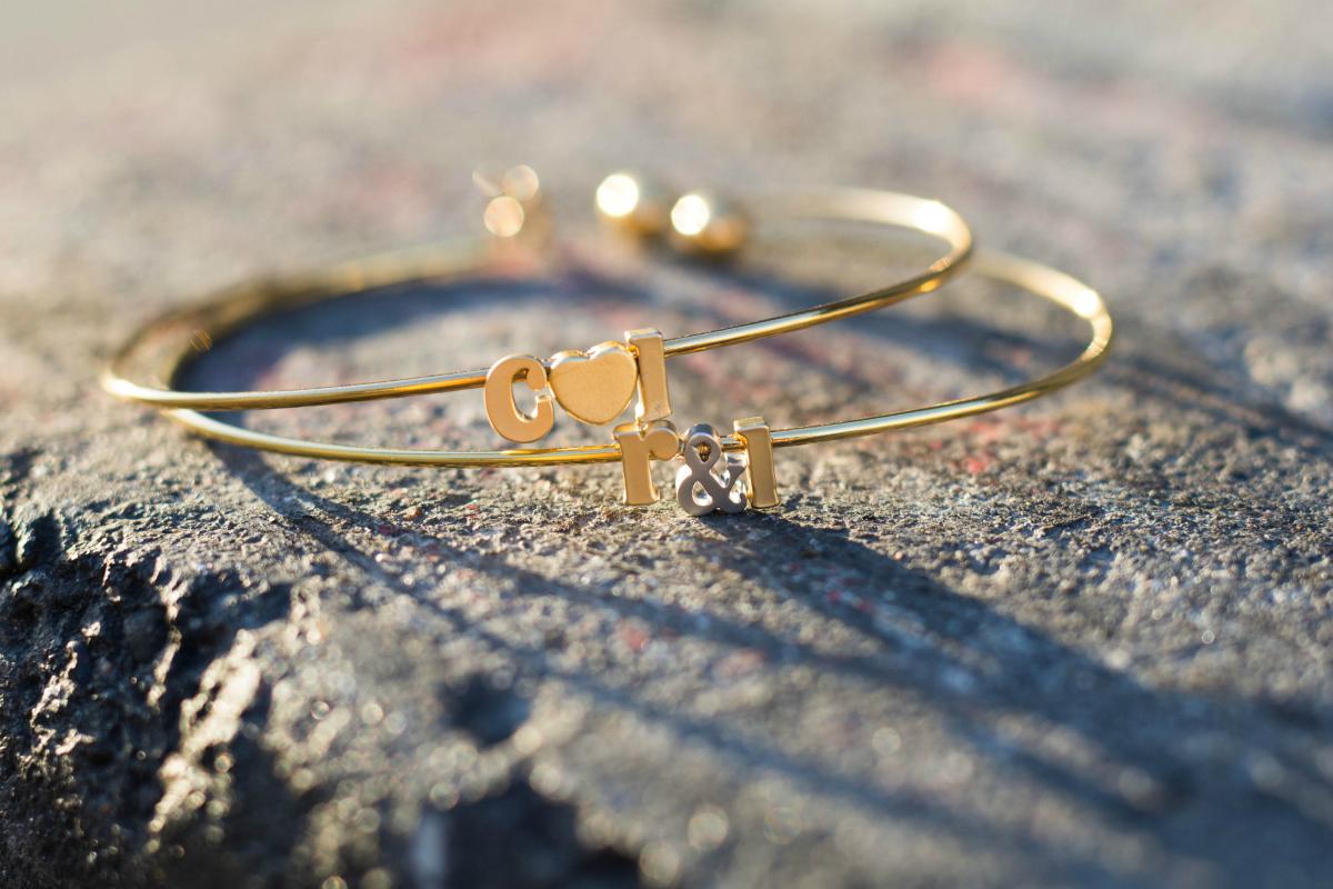 Initail Brin & Bell Bracelets
