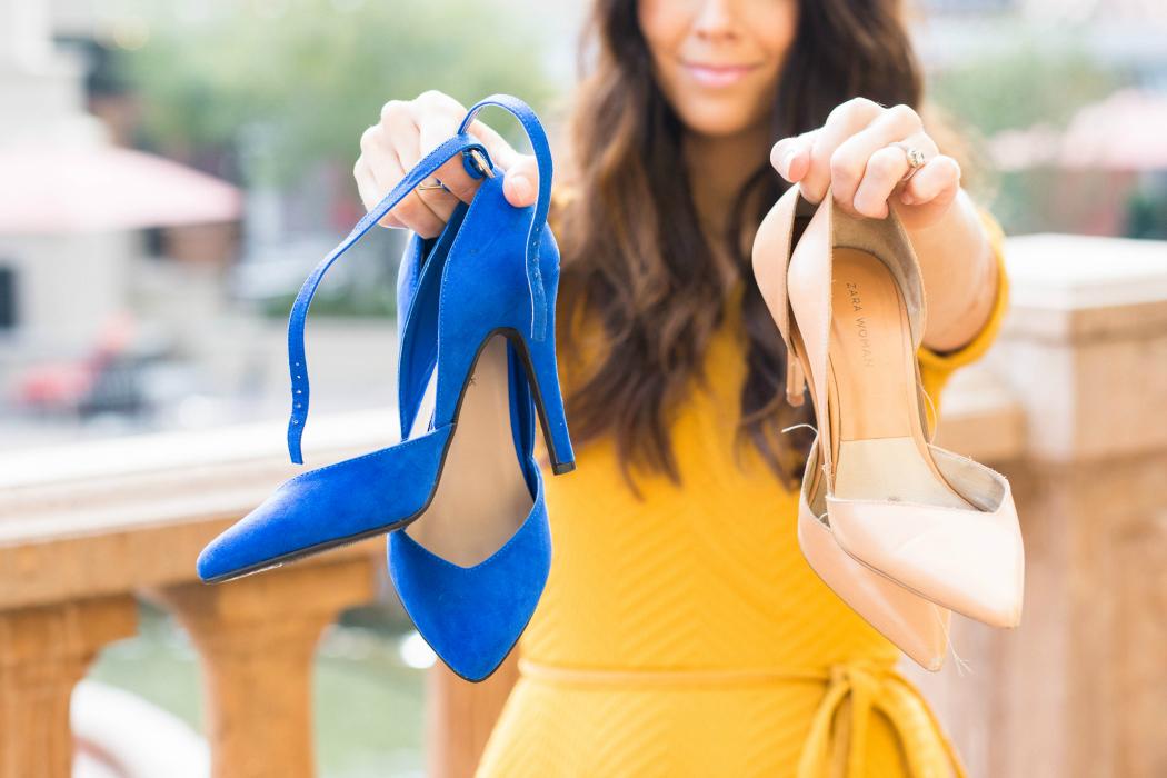 Blue & Nude Heels
