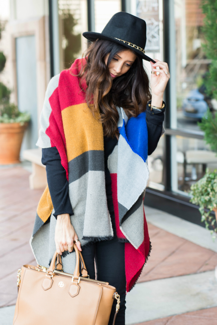 Colorful Colorblock Scarf