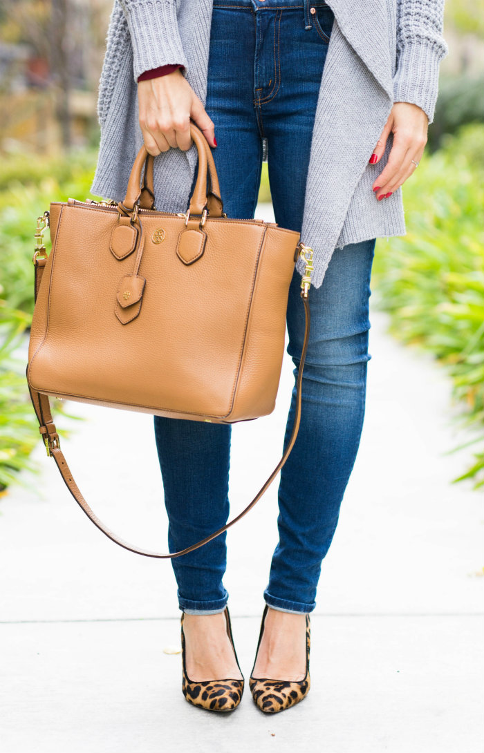 Tory Burch Bag + J Crew Pumps