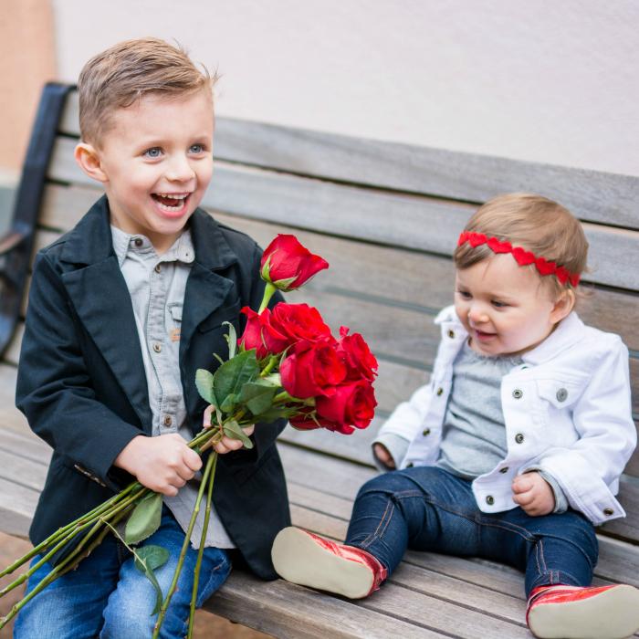 Kids + Roses + Valentines