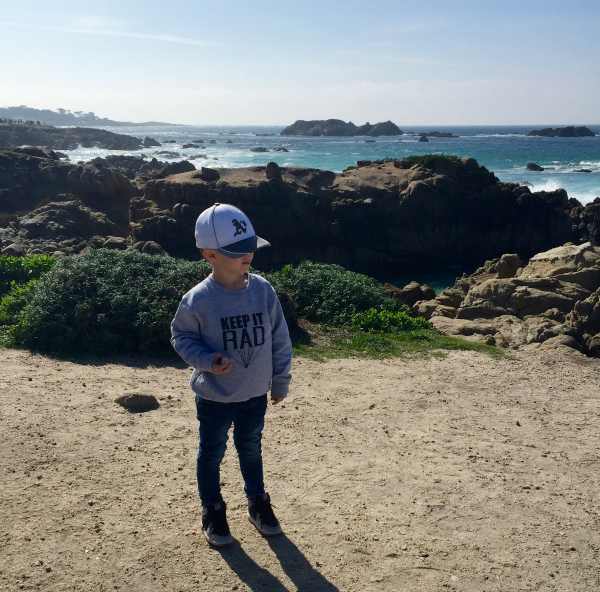 Rowen and the ocean