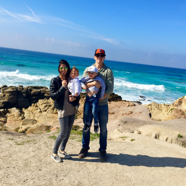 The family at Pebble Beach