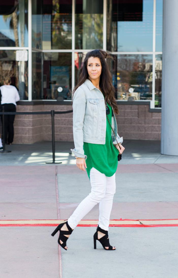 White Jeans + Jean Jacket
