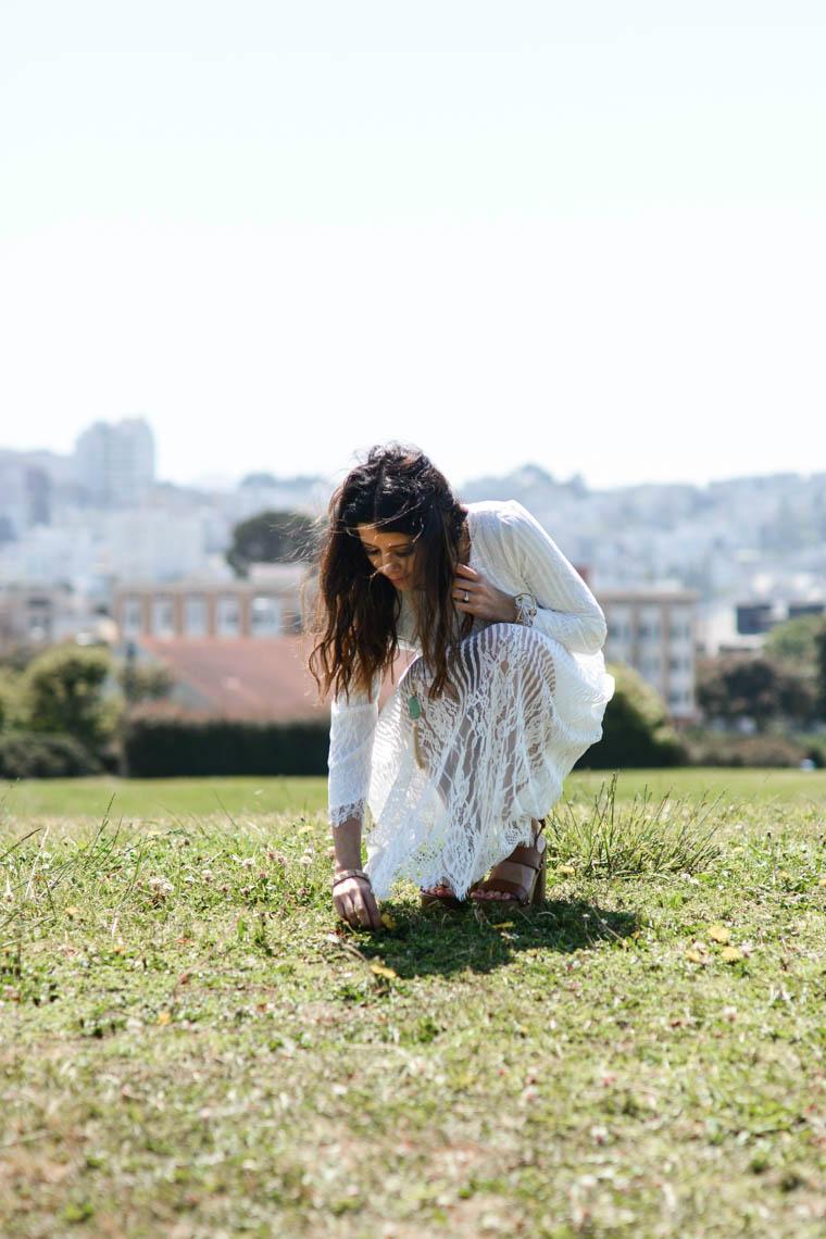 San Fran, White Dress
