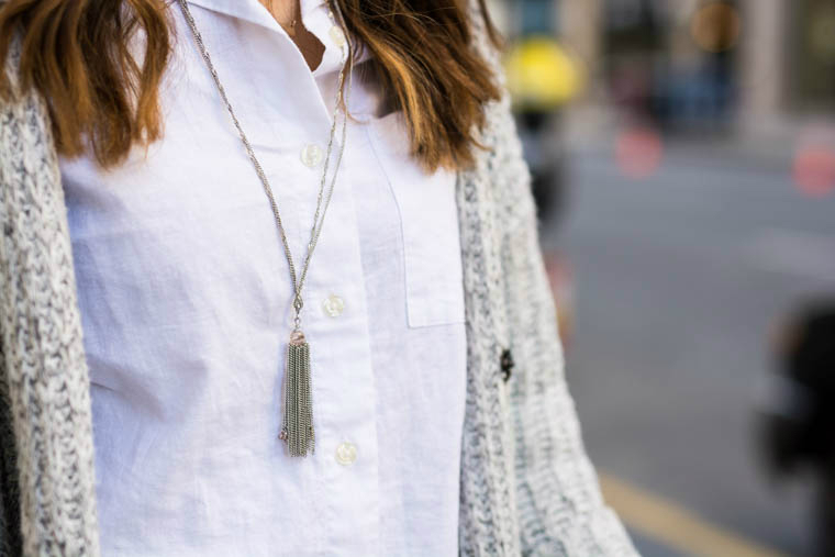 Tassel sliver necklace