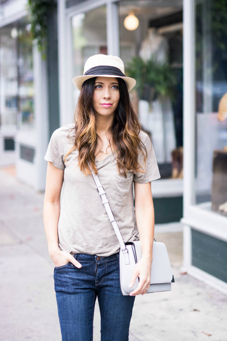 Hat, jeans & tee