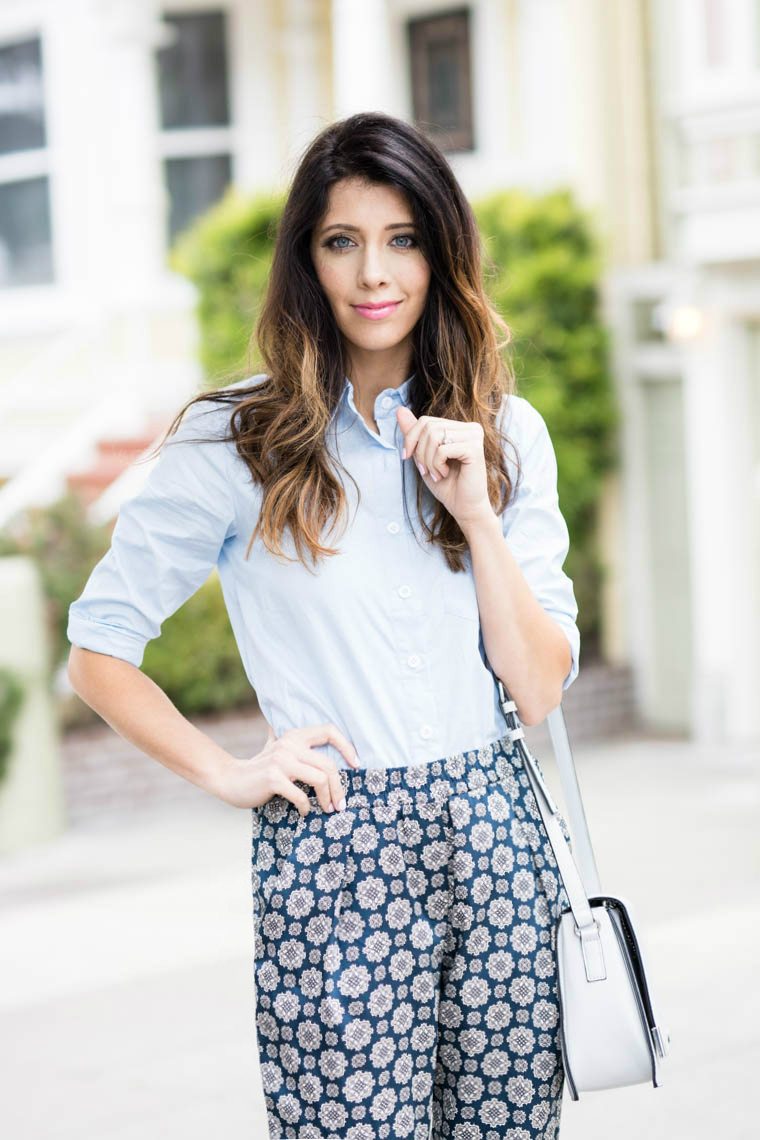 Blue Collar Top, Dressy Pants