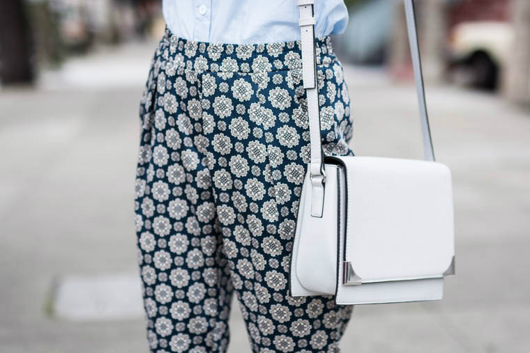 Crossover Grey Bag, Slouchy pants