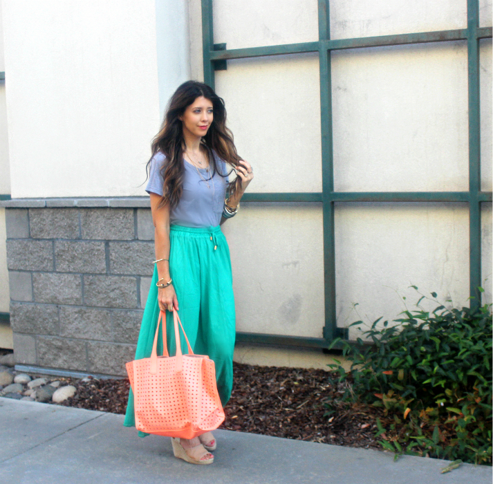 Coral & Green