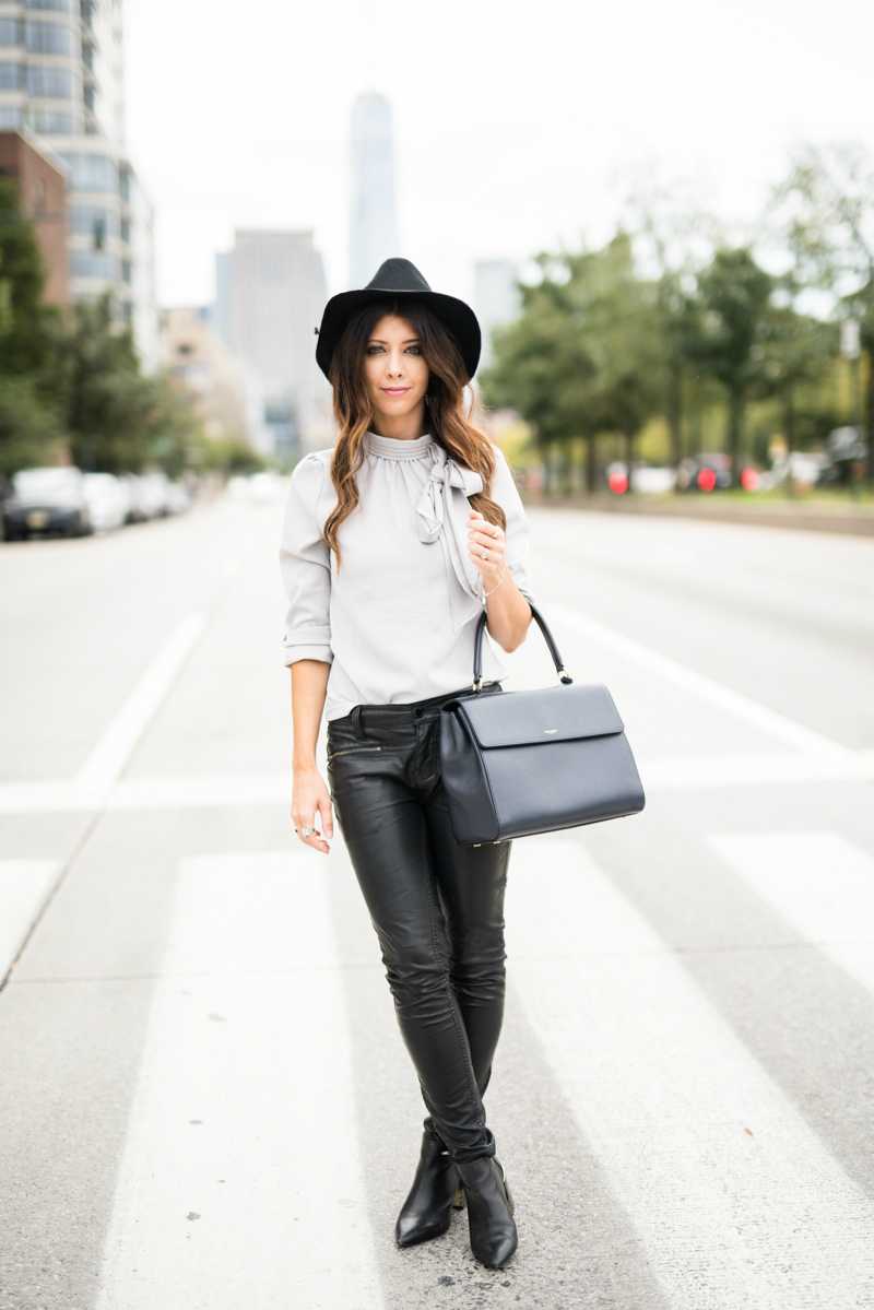 Leather pants, Ankle booties