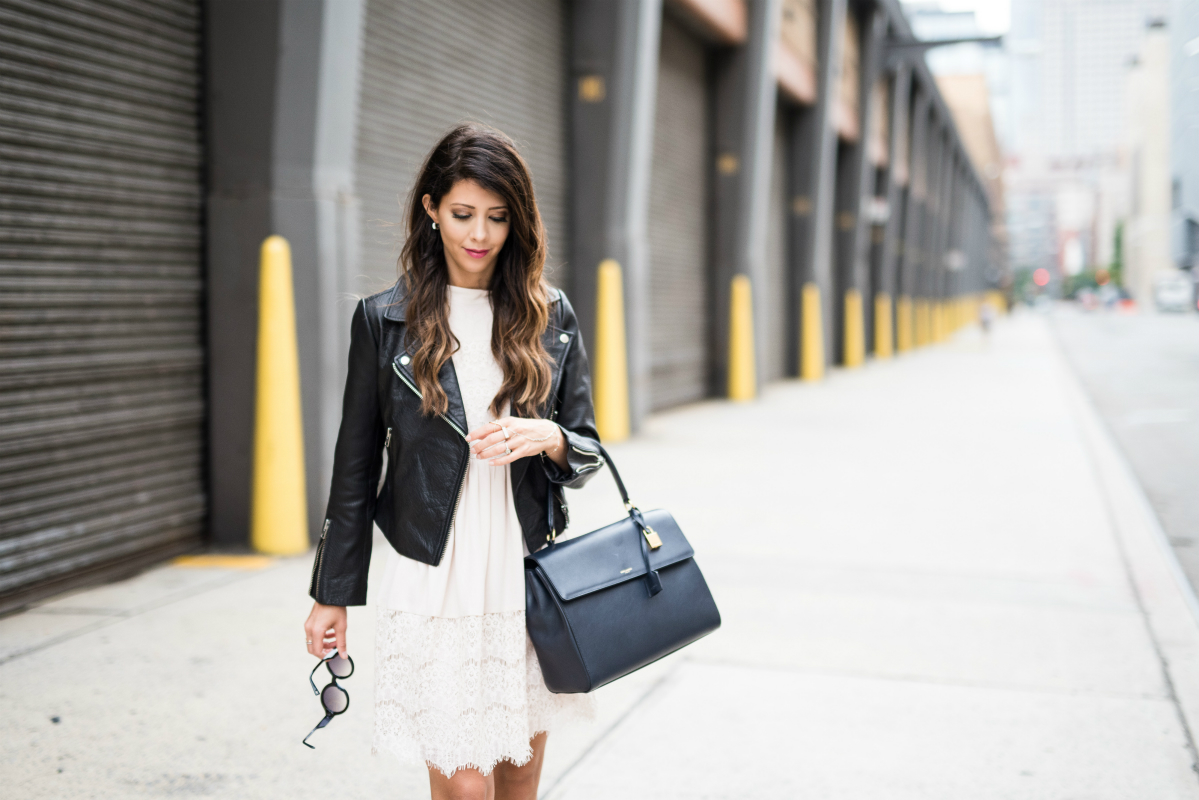 Street Style- Leather & Lace