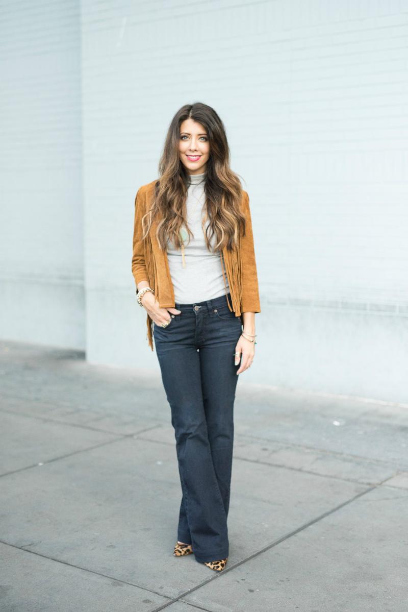 Fringe Jacket + Flare Jeans