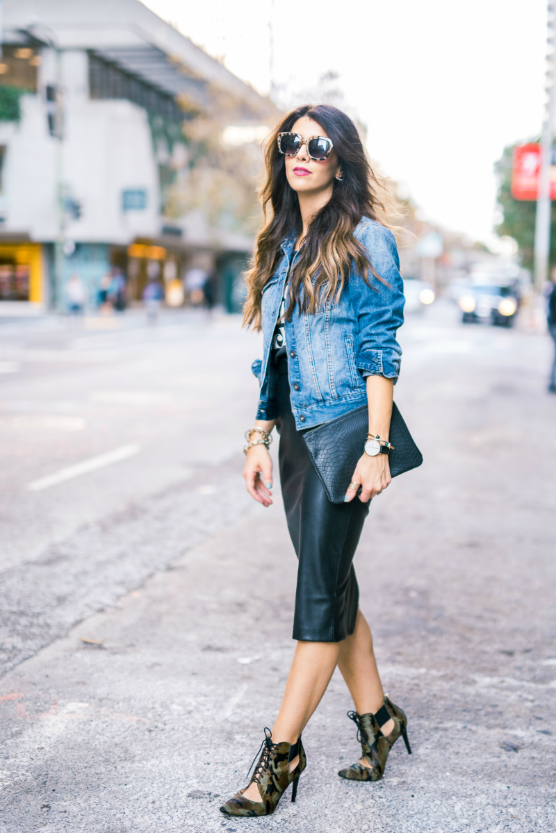 Leather + Denim + Cameo