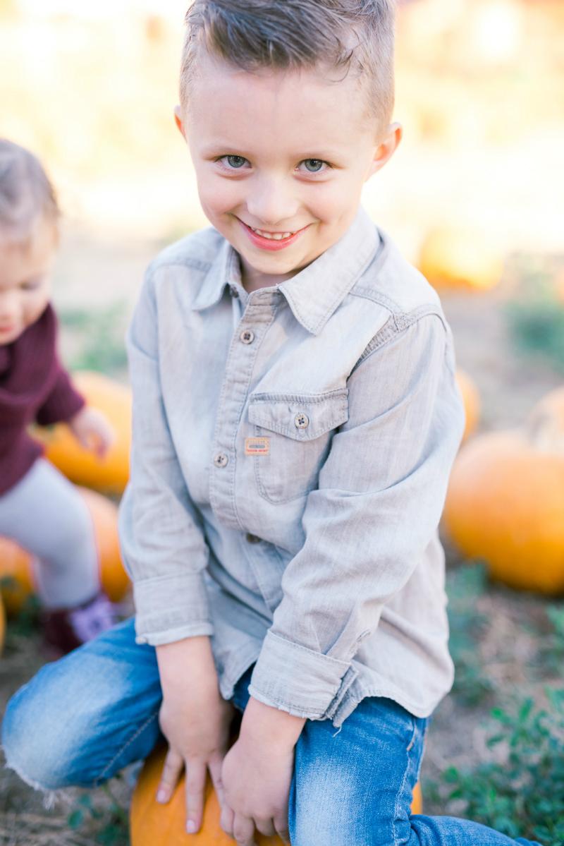 Rowen at the Pumpkin Patch