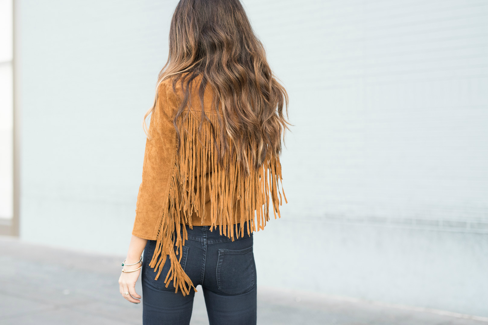 Suede Fringe Jacket, Long Hair