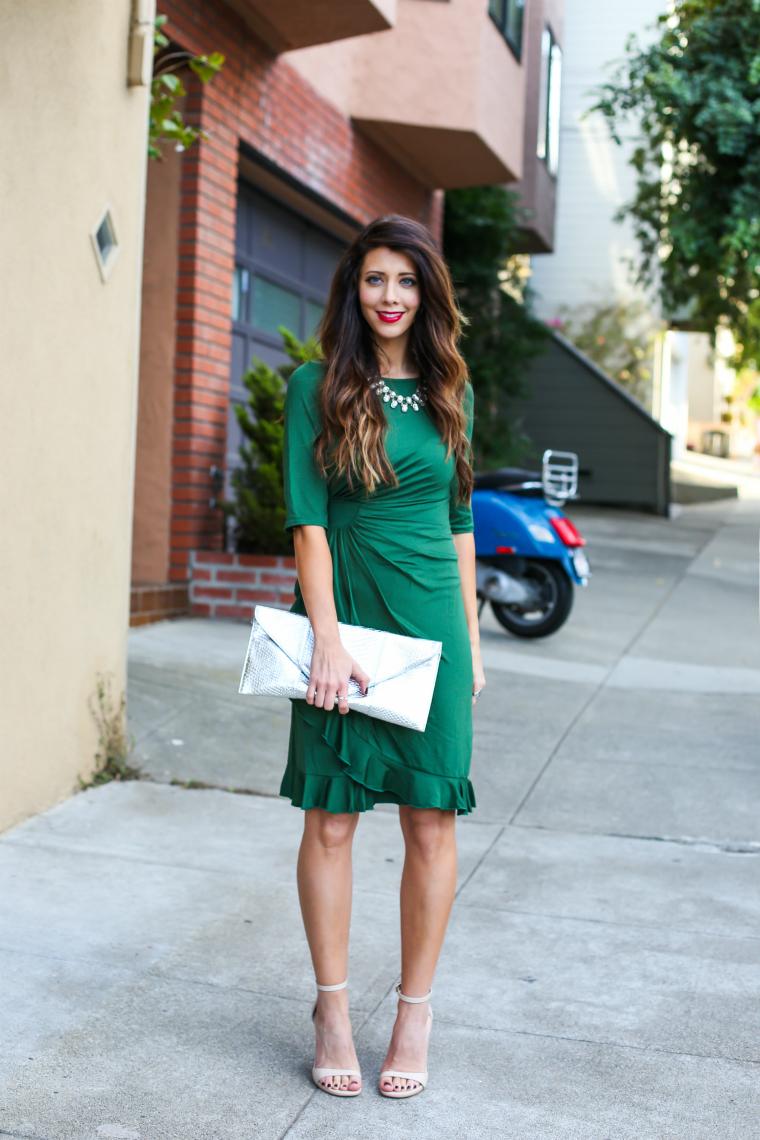 Latisha Springer Green Holiday Dress Fashion Blogger-3265