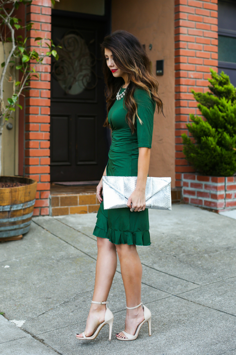 Latisha Springer Green Holiday Dress Fashion Blogger-3359