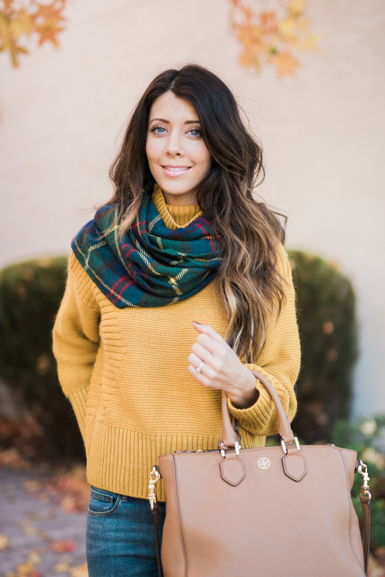 The Girl in the Yellow Dress, Yellow sweater + Scarf