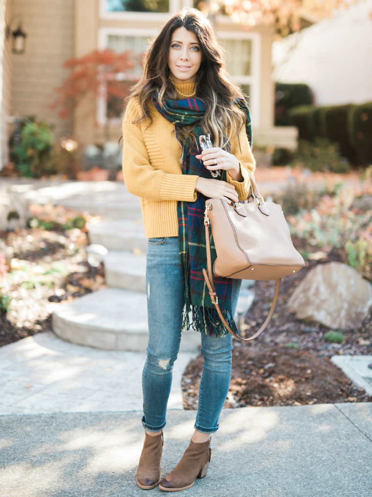 scarf and yellow sweater (7)