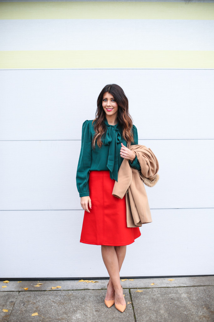 Red & Green | Christmas Look
