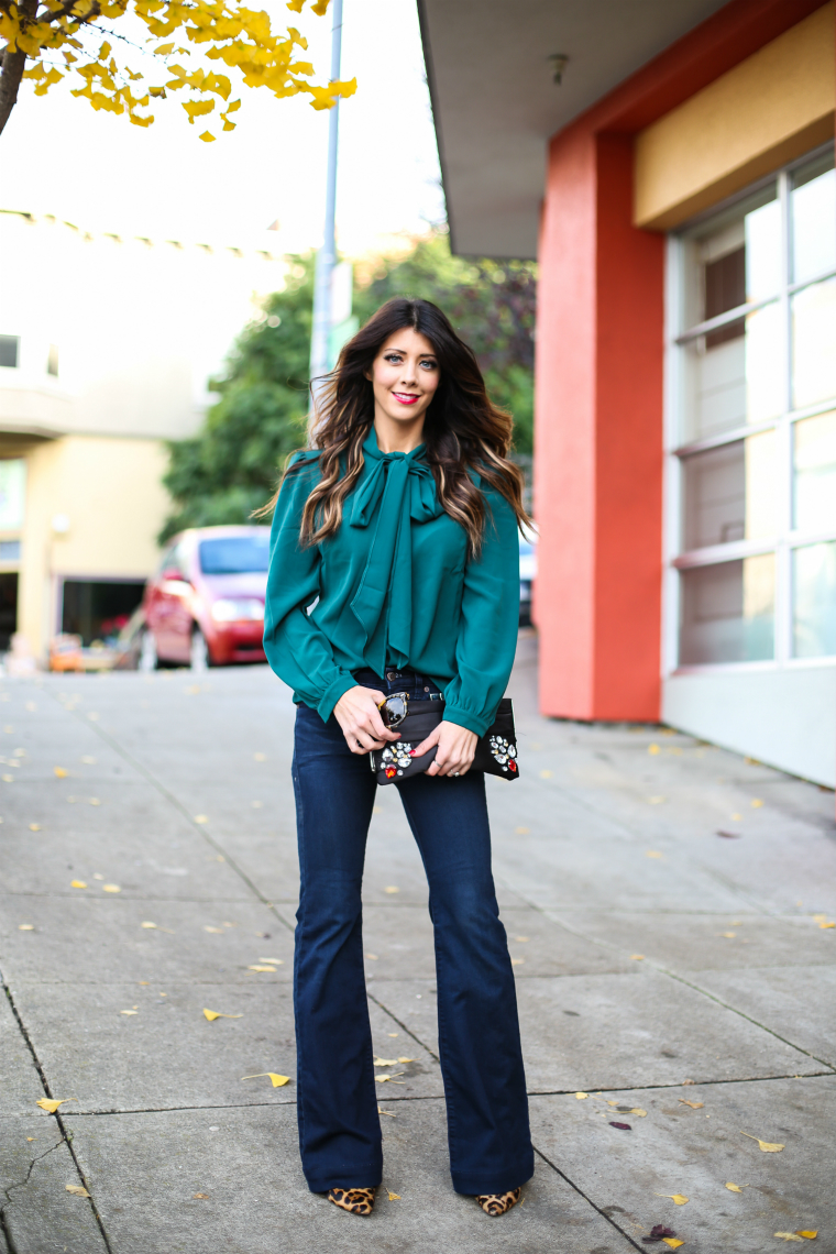 Latisha Springer Fashion Blogger Emerald Tunic and Jeans-1360