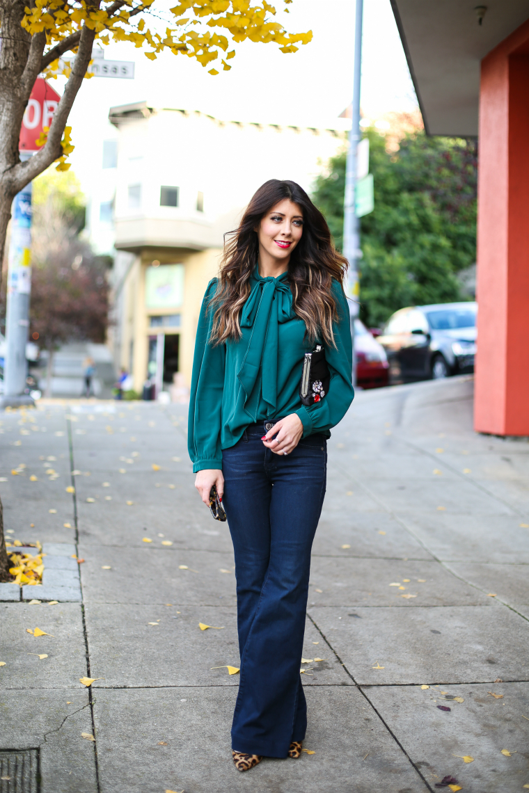Latisha Springer Fashion Blogger Emerald Tunic and Jeans-1374