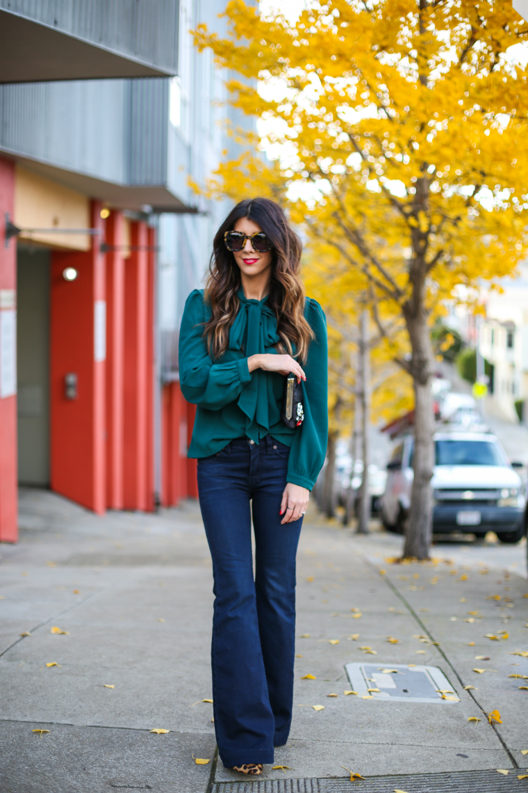 Latisha Springer Fashion Blogger Emerald Tunic and Jeans-1411-2