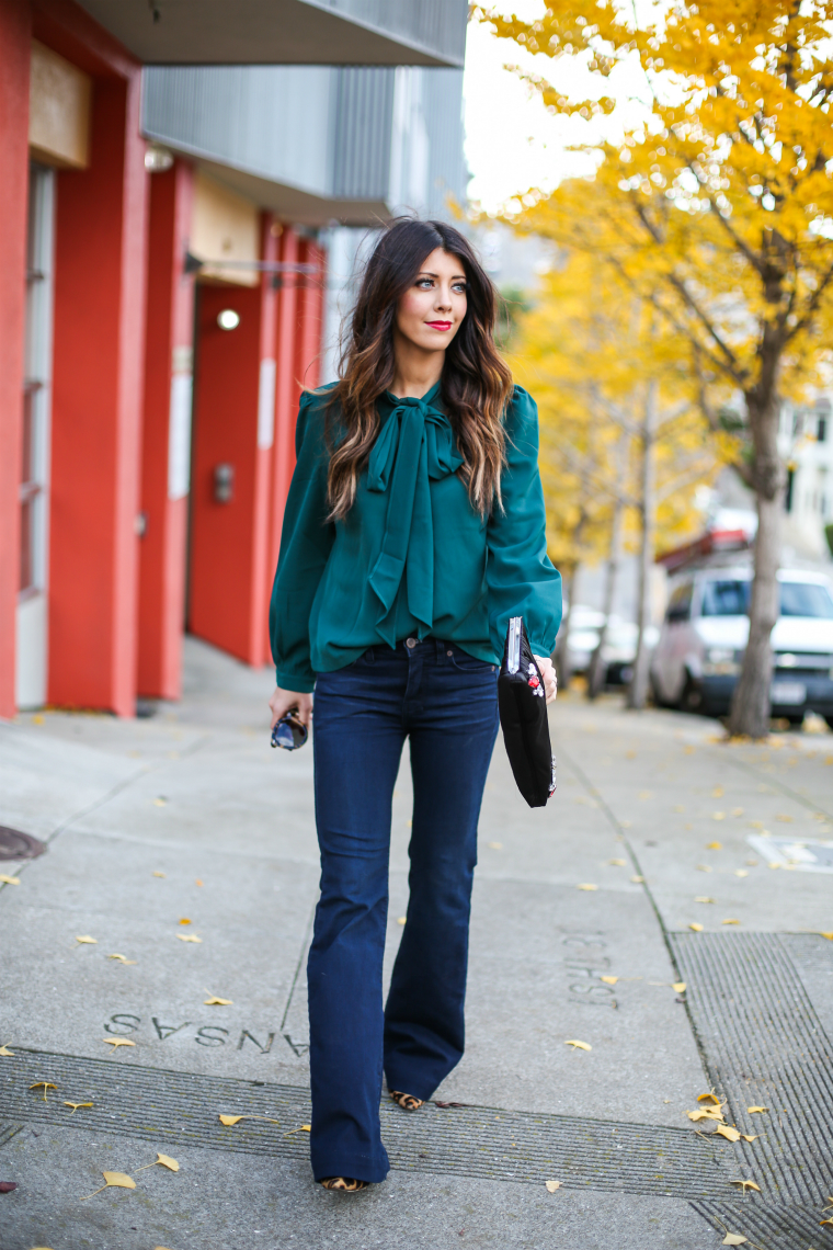 Latisha Springer Fashion Blogger Emerald Tunic and Jeans-1531