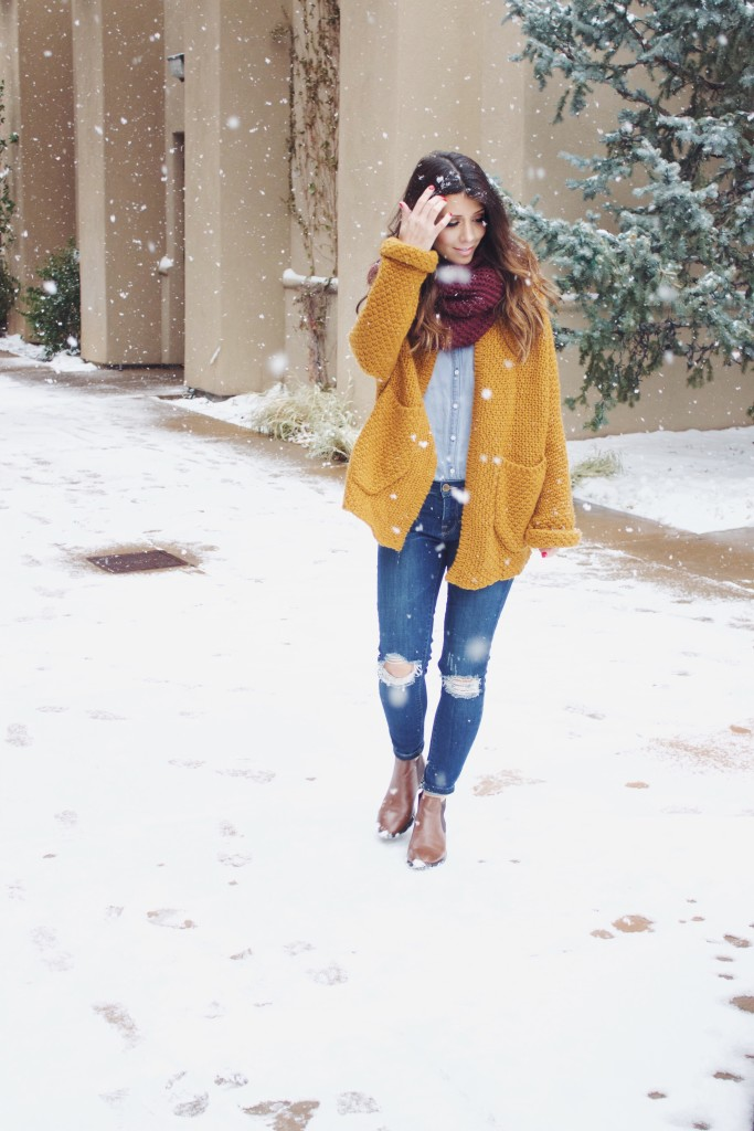 Sweater, Ripped Jean, Ankle Booties