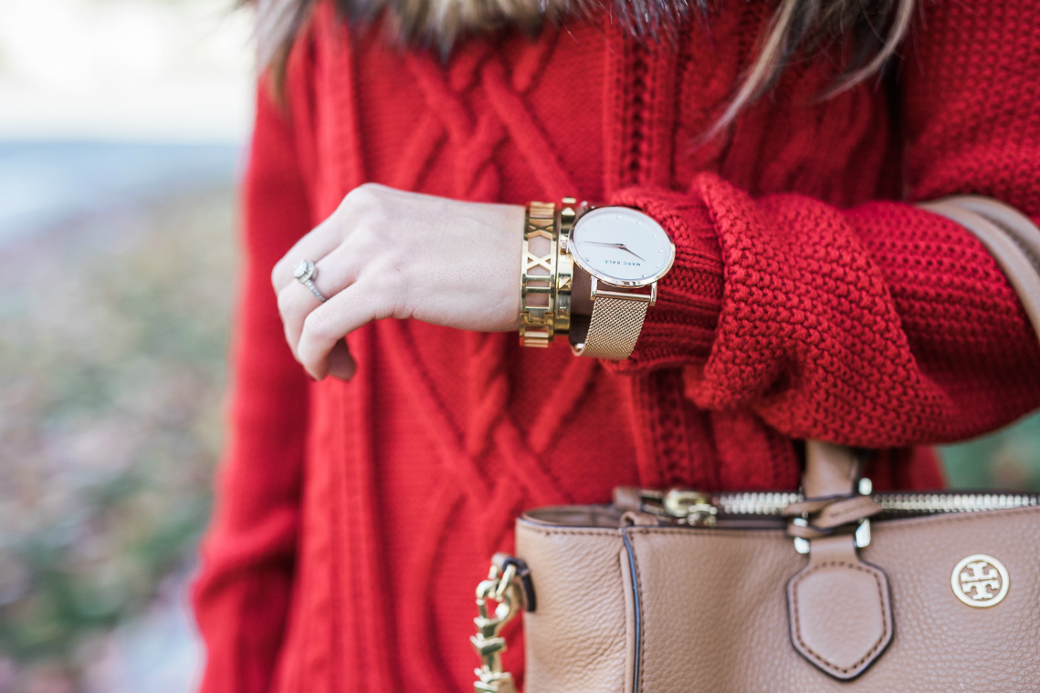 red sweater fall style (16)