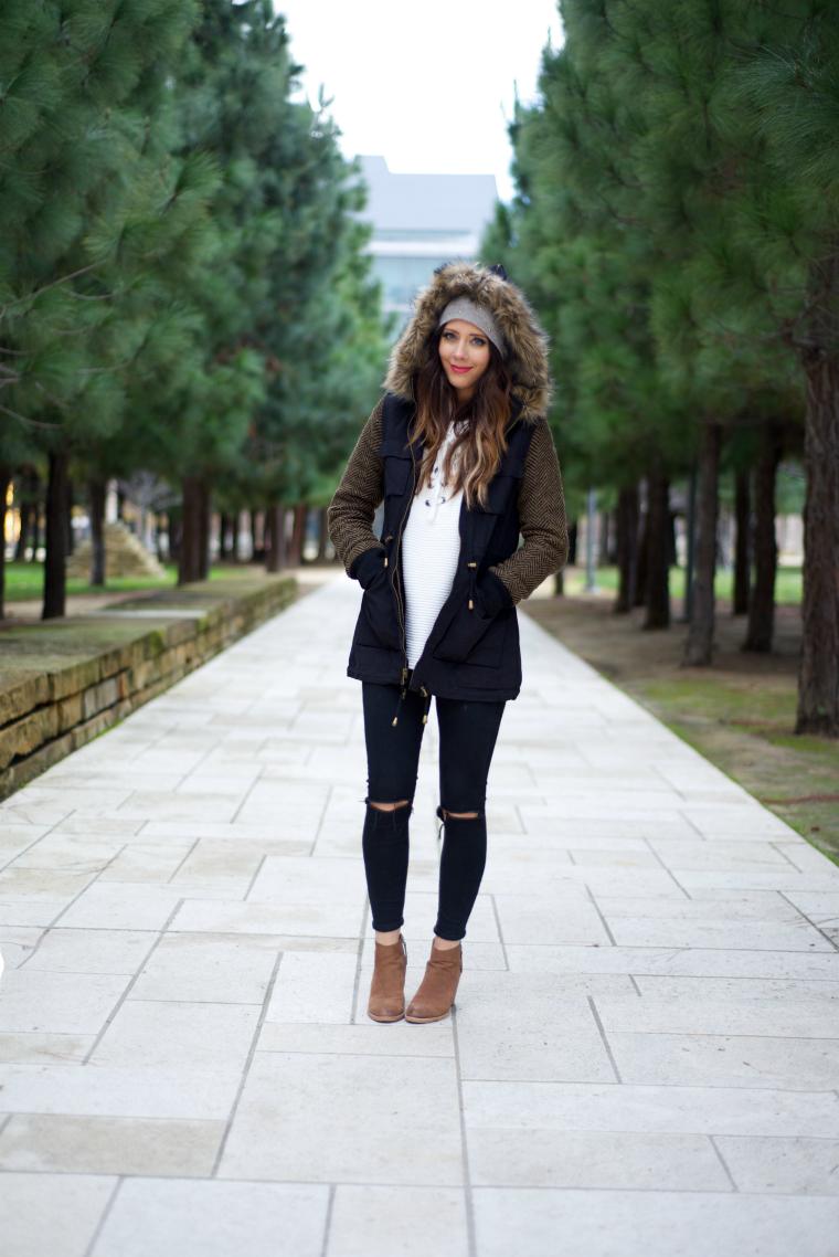 Coat, Black Jeans