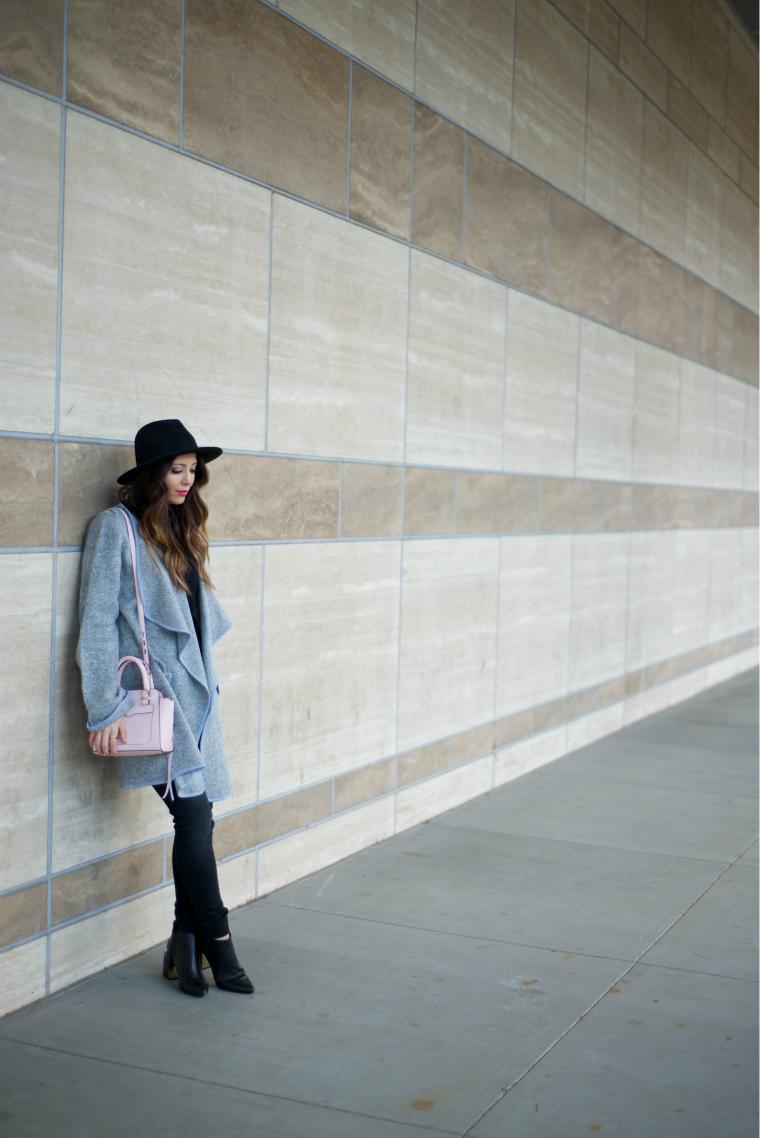 Grey Cardi + Black Jeans