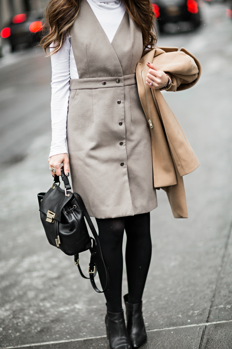 Grey Button Down Dress