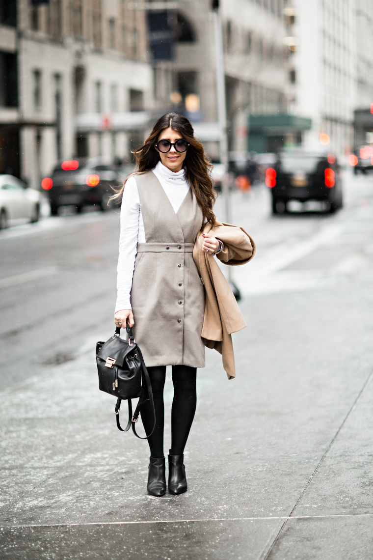 Grey Dress + Neutrel Coat
