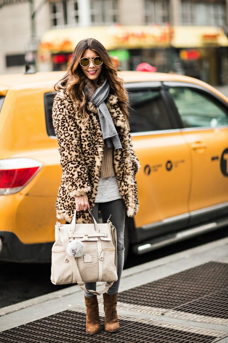 Grey & Leopard