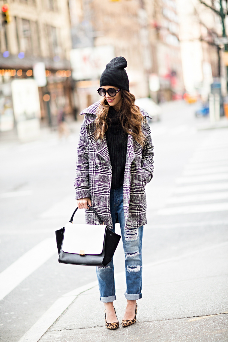 Leopard Coat + Plaid Coat
