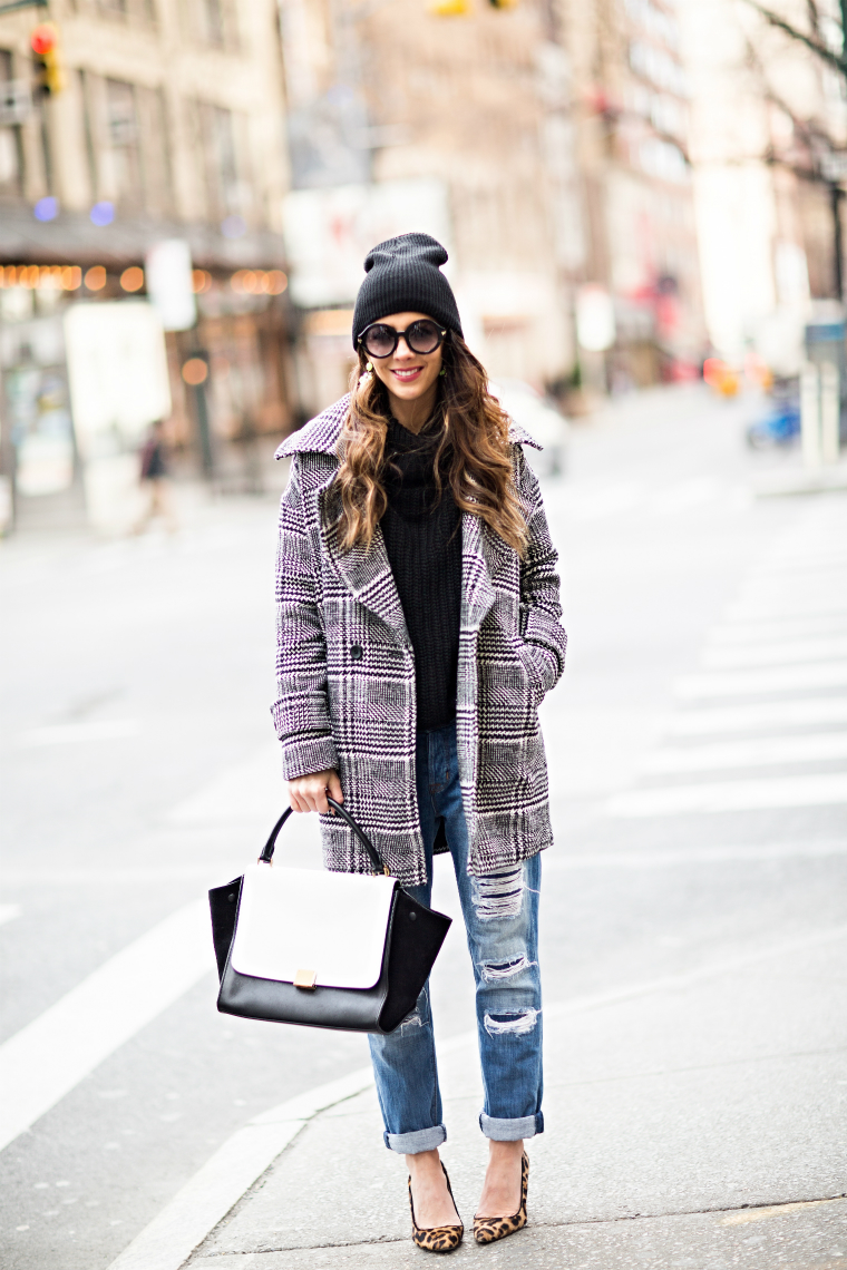 Plaid Coat, Boyfriend Jeans