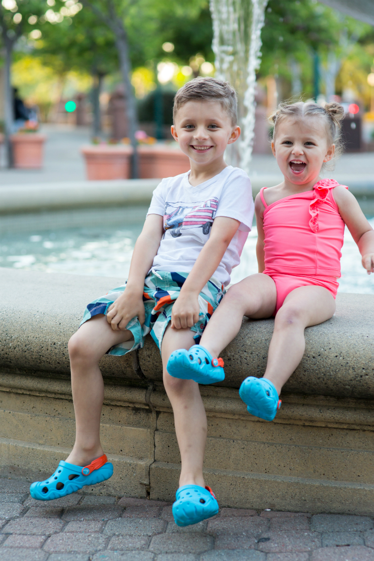 Crocs with Lettie and Rowen 2
