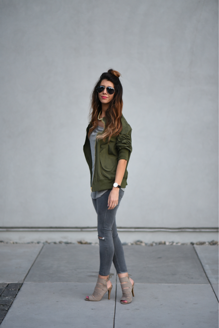 Bomber Jacket | The Girl in the Yellow Dress