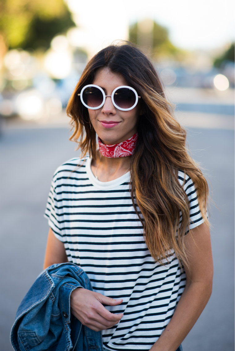 Striped Tee + Denim | The Girl in the Yellow Dress