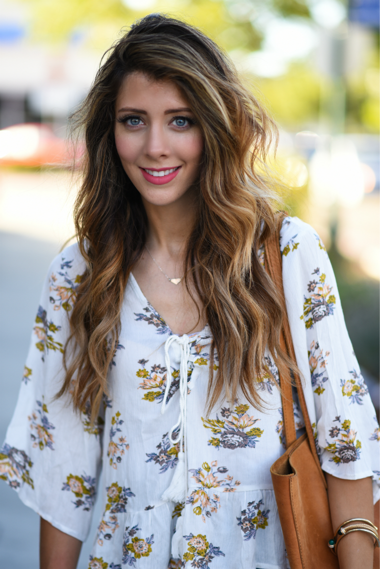 Ruffle Floral Blouse | The Girl in the Yellow Dress