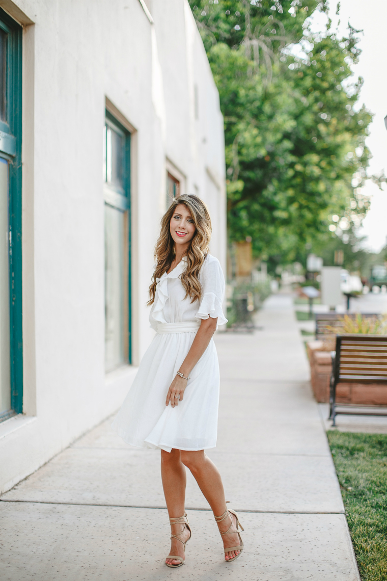 Little White Dress | The Girl in the Yellow Dress