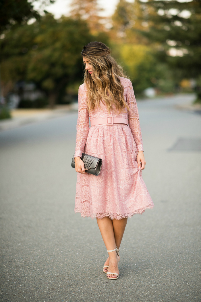 Lace Dress + Ankle Strap Dress | The Girl in the Yellow Dress