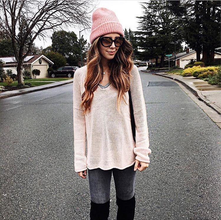 Blush Pink Oversized Sweater