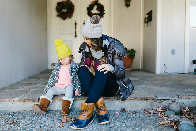Mother, Daughter Winter Fashion