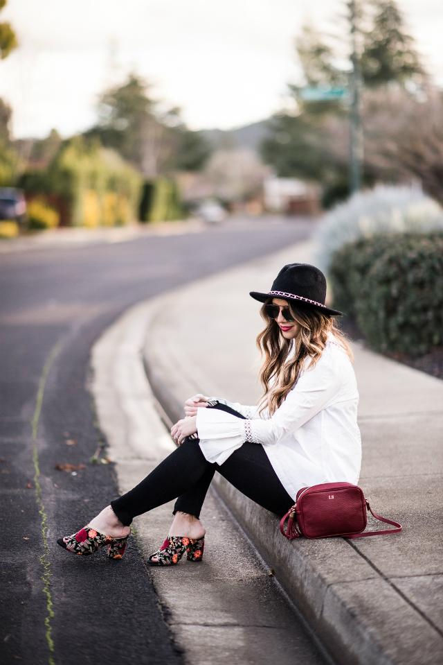 Bell Sleeves + Black Skinny Jeans